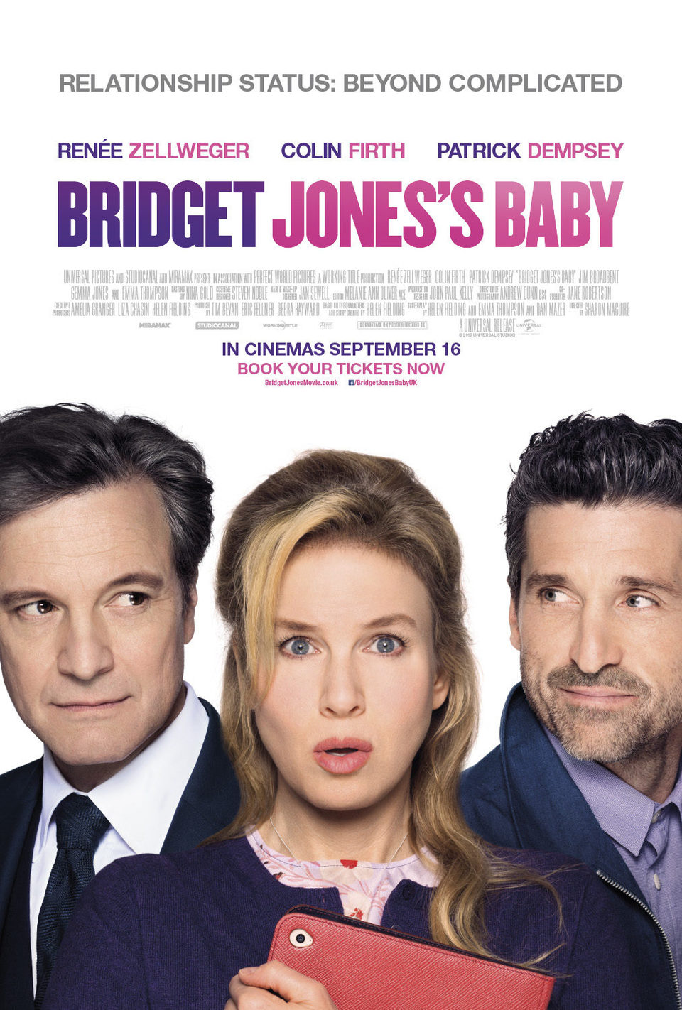 U.K poster for Bridget Jones' Baby