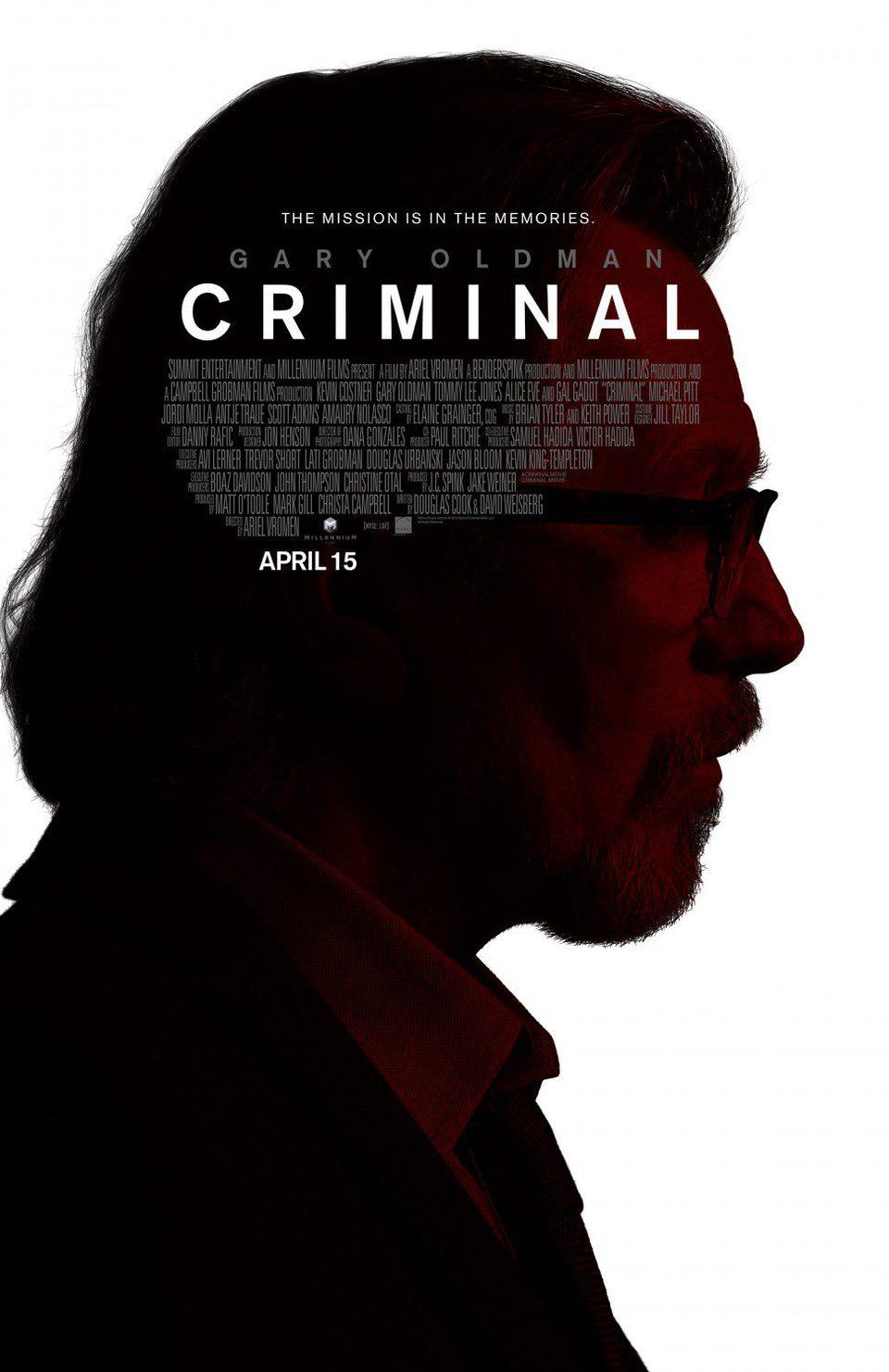 Gary Oldman poster for Criminal