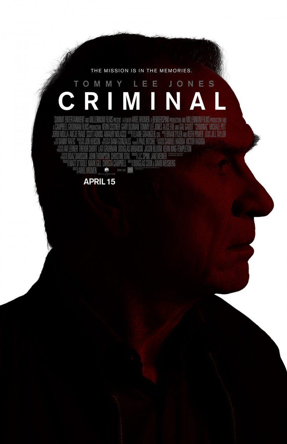 Tommy Lee Jones poster for Criminal