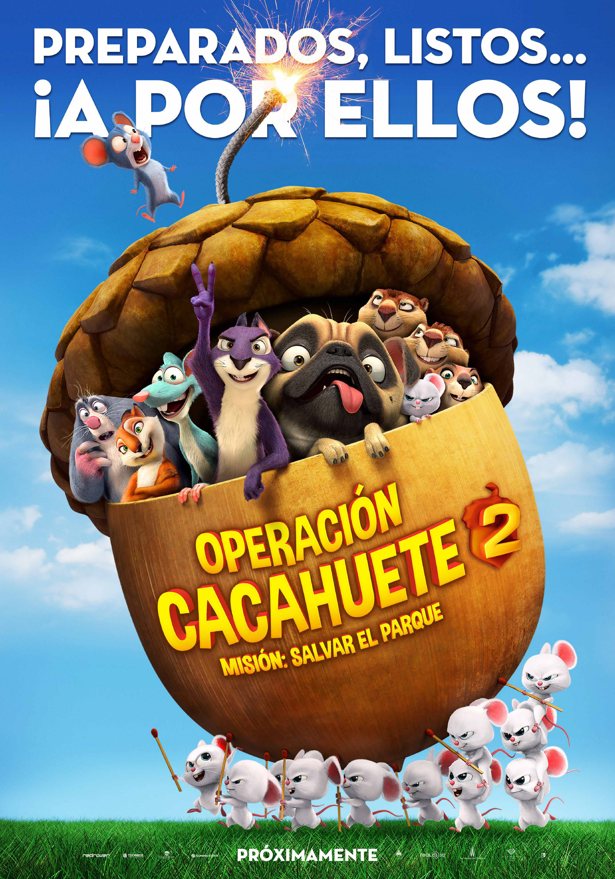 España poster for The Nut Job 2: Nutty by Nature