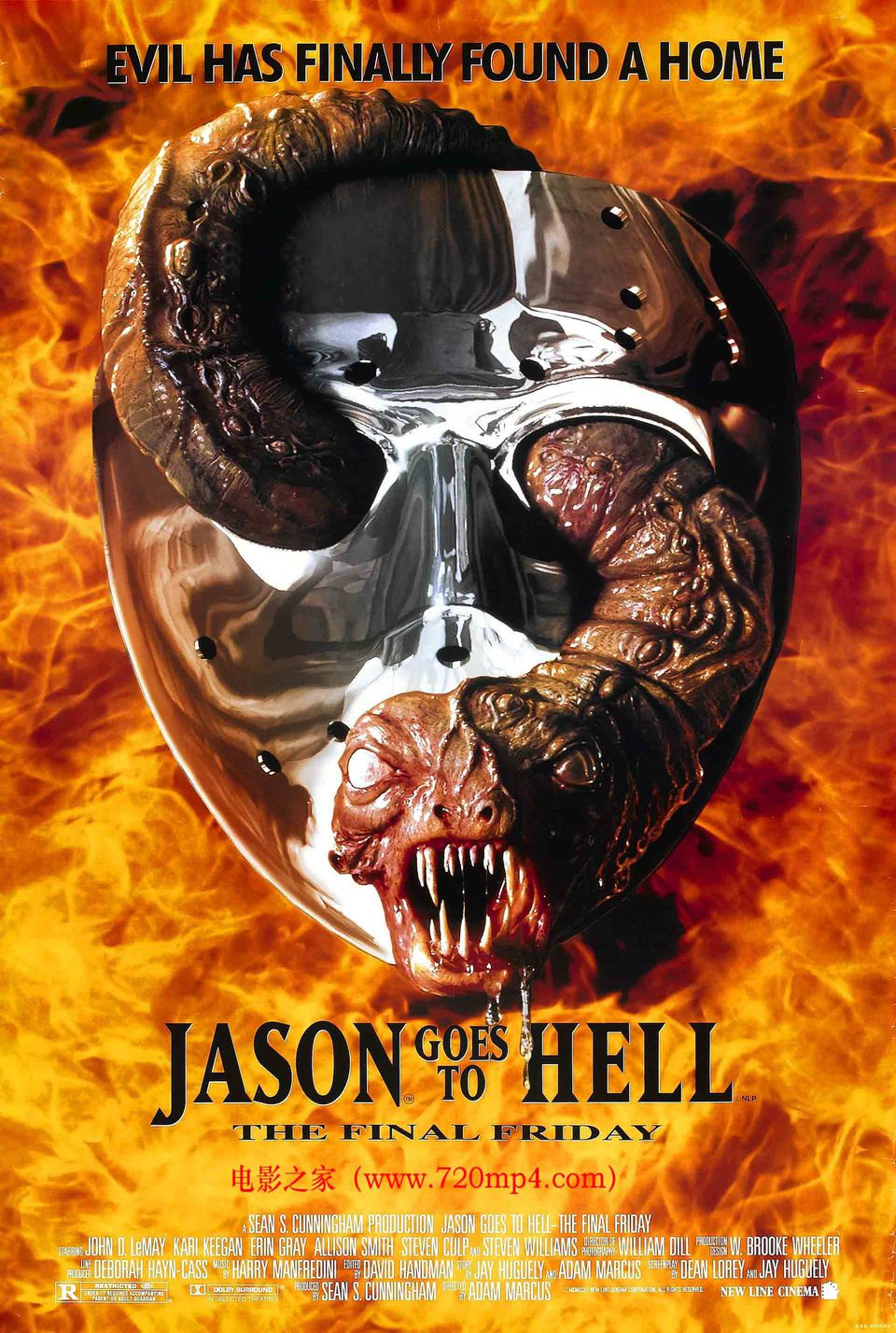Viernes 13. Parte IX: Jason se va al infierno poster for Jason Goes to Hell: The Final Friday (1993) - Movie'n'co