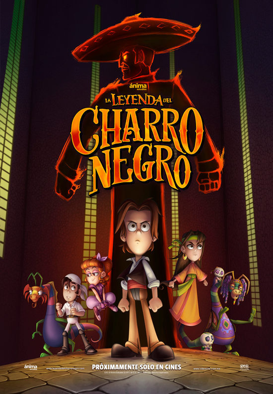 Póster final poster for La leyenda del charro negro