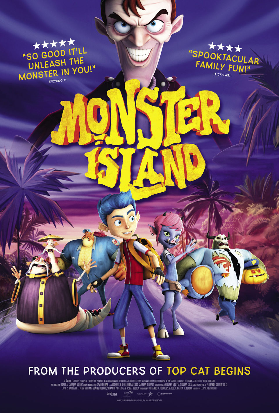 UK poster for Monster Island