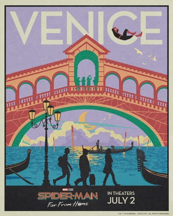 Postal Venecia poster for Spider-Man: Far From Home