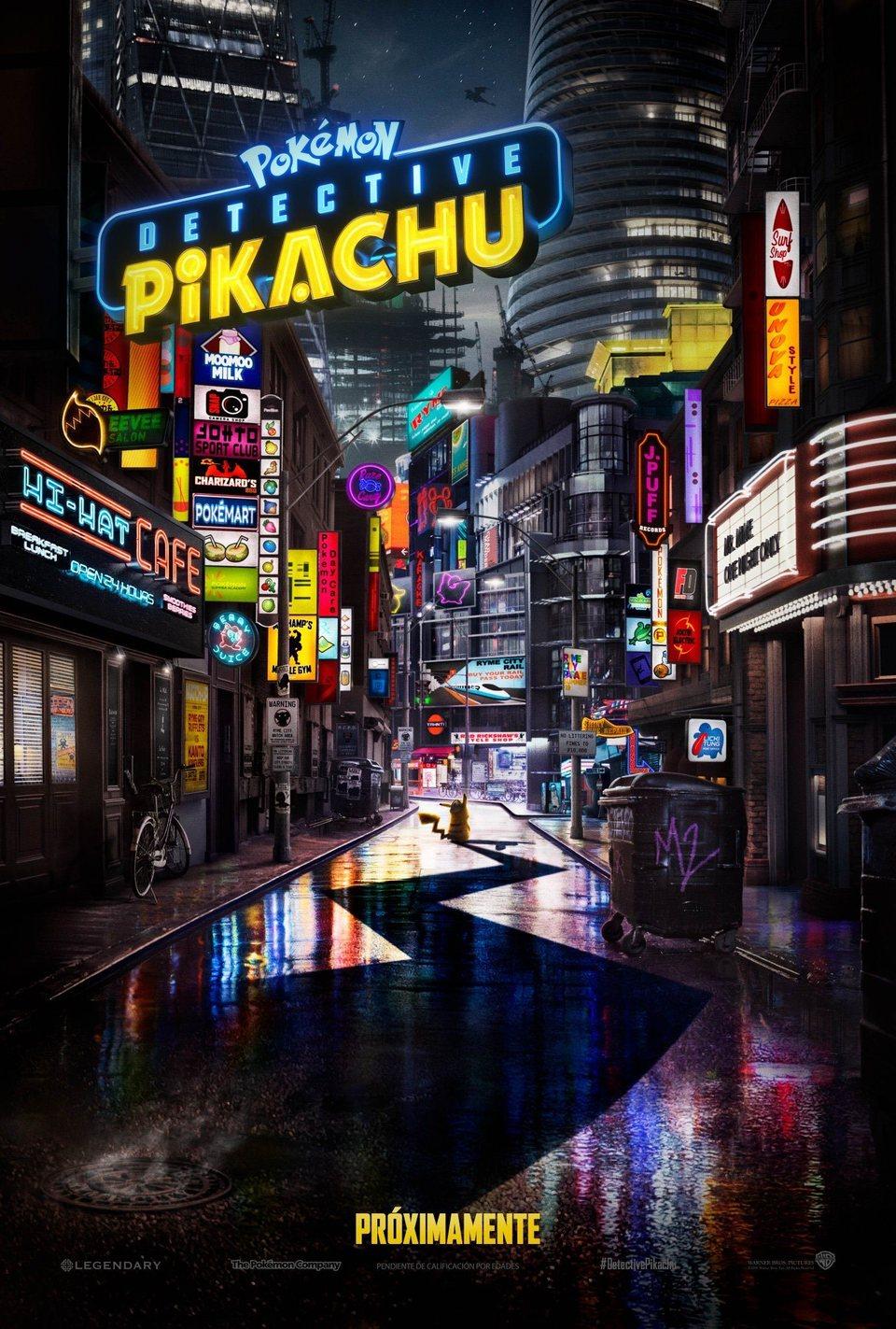 Teaser español poster for Detective Pikachu