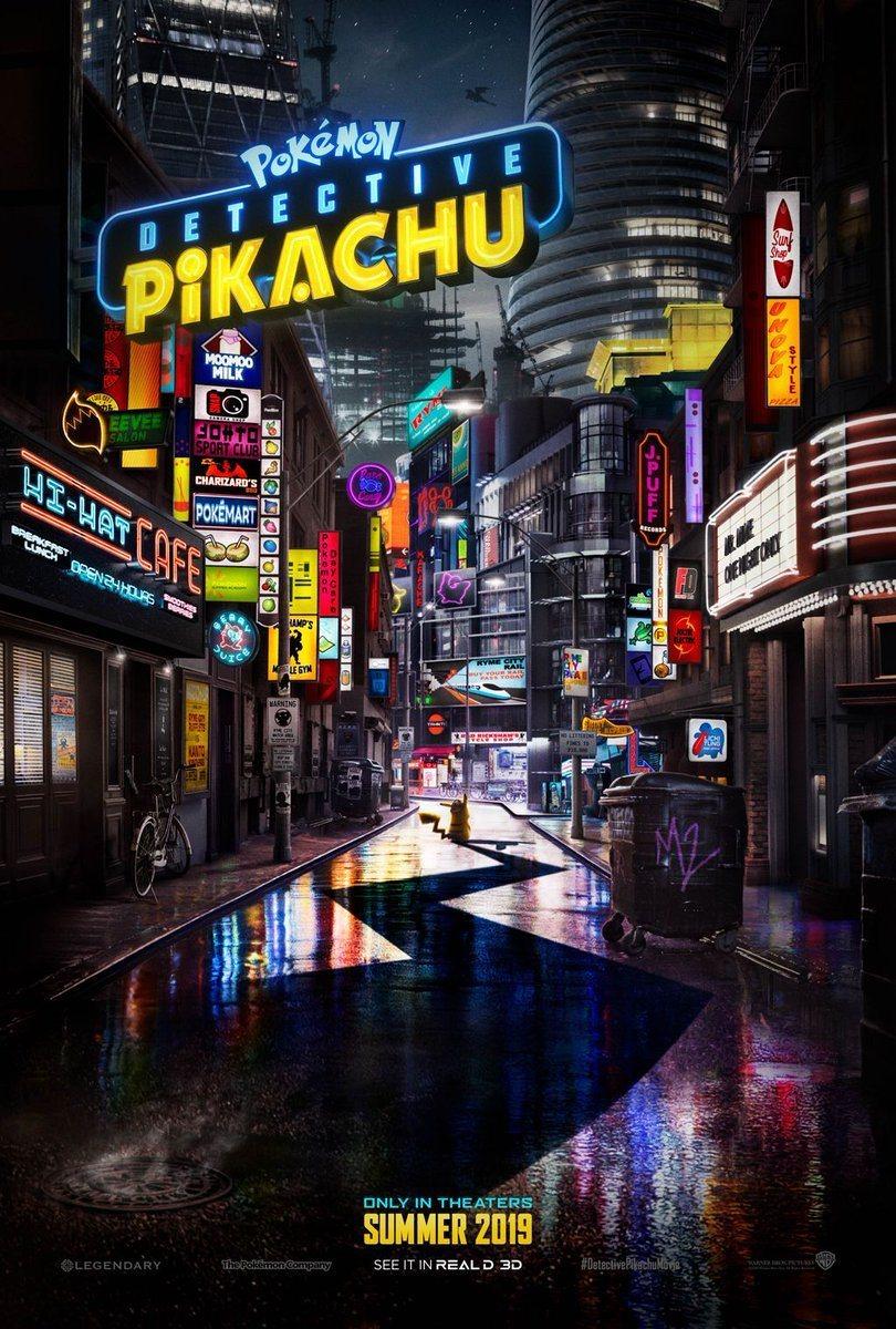 Teaser en inglés poster for Detective Pikachu