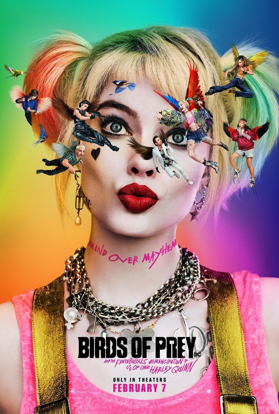 Teaser Poster EEUU poster for Birds of Prey: and the Fantabulous emancipation of one Harley Quinn