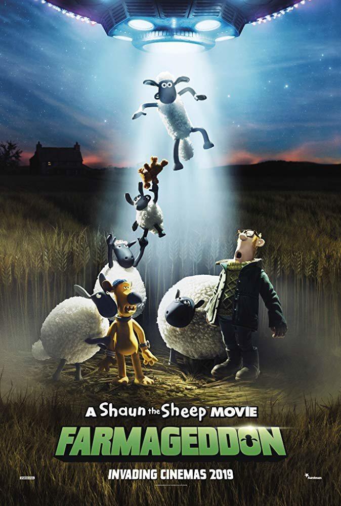 Internacional poster for Shaun the Sheep Movie: Farmageddon