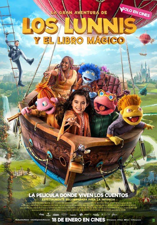 Póster 'La gran aventura de los Lunnis y el libro mágico' poster for La gran aventura de los Lunnis y el libro mágico