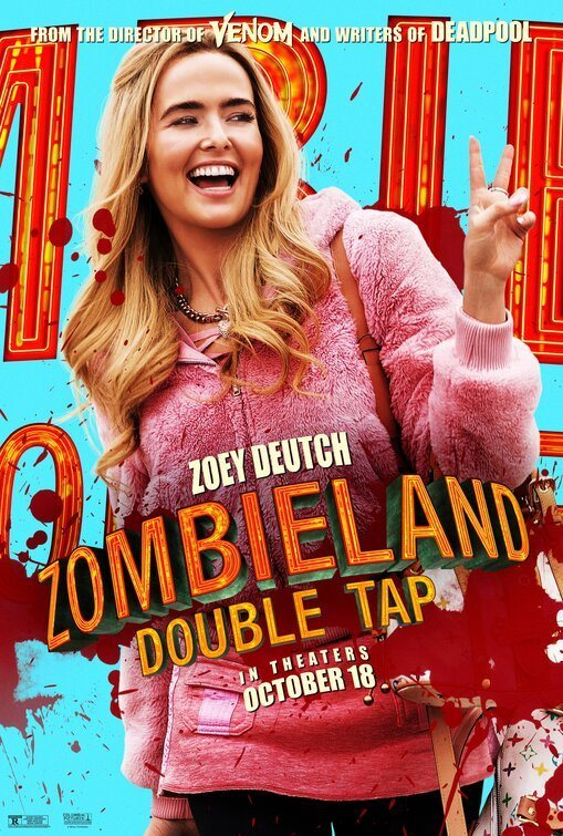 Zoey Dutch poster for Zombieland: Double Tap