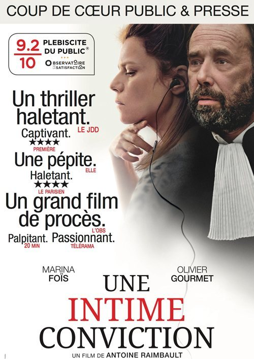 Une intime conviction poster for Conviction