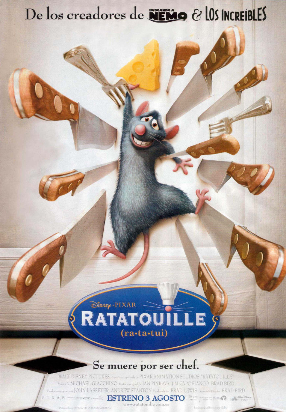 España poster for Ratatouille