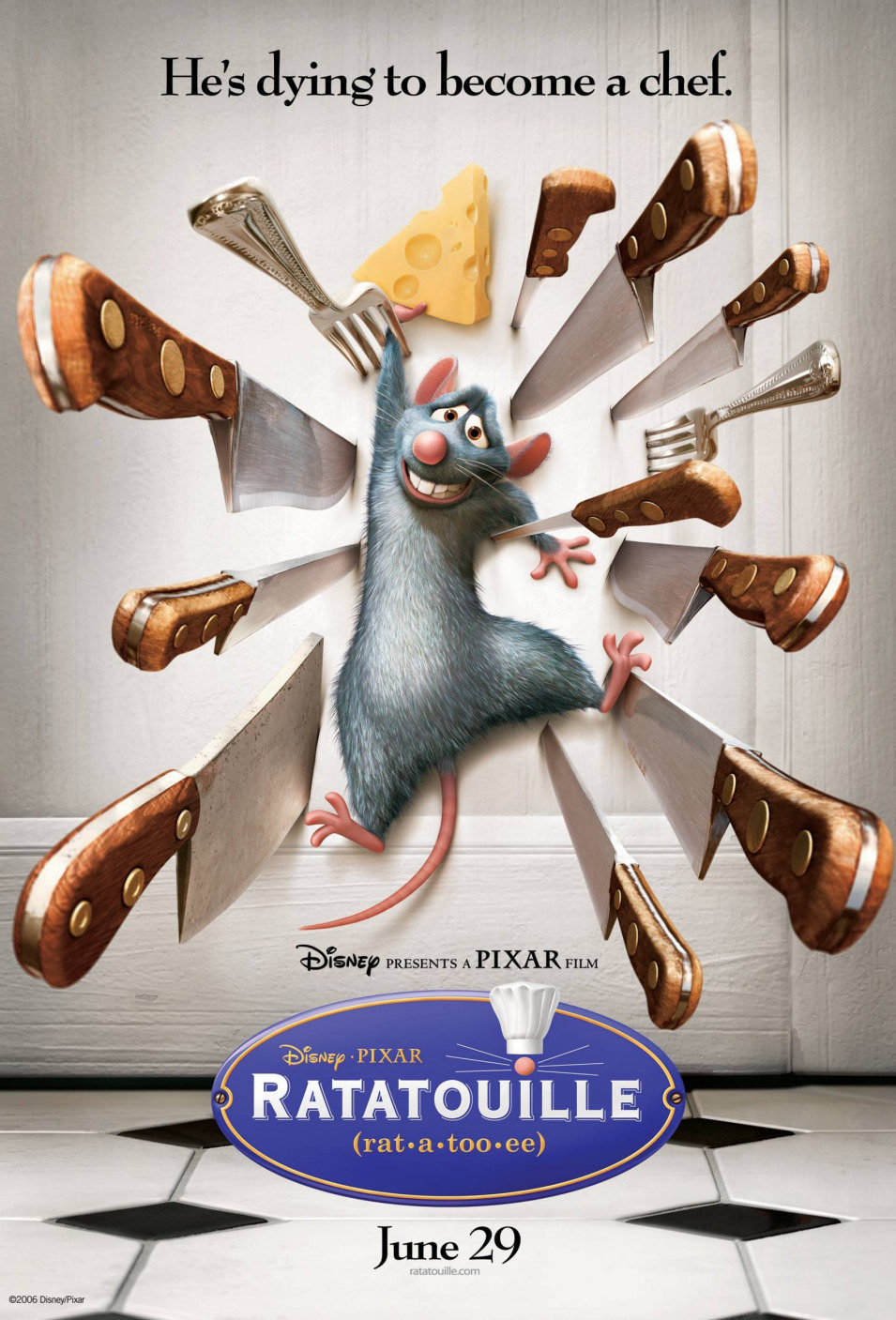 Estados Unidos poster for Ratatouille