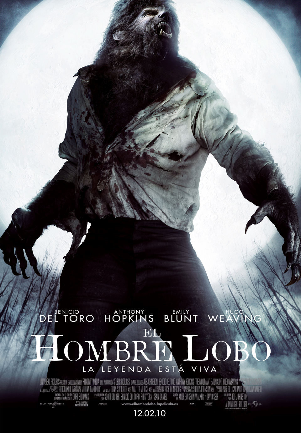 España poster for The Wolfman