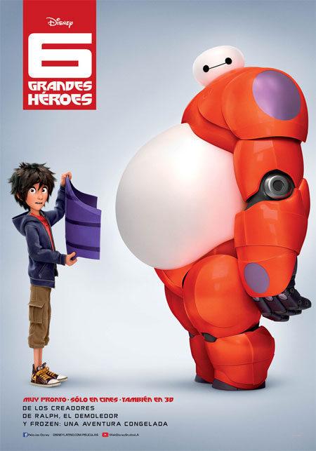Teaser México poster for Big Hero 6