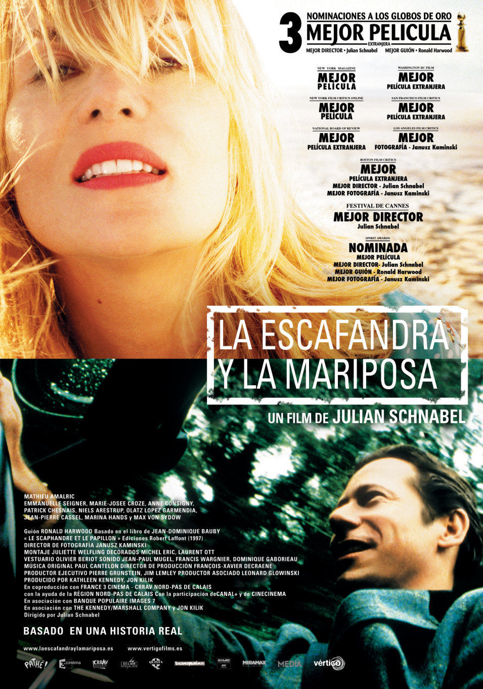 España poster for The Diving Bell and the Butterfly