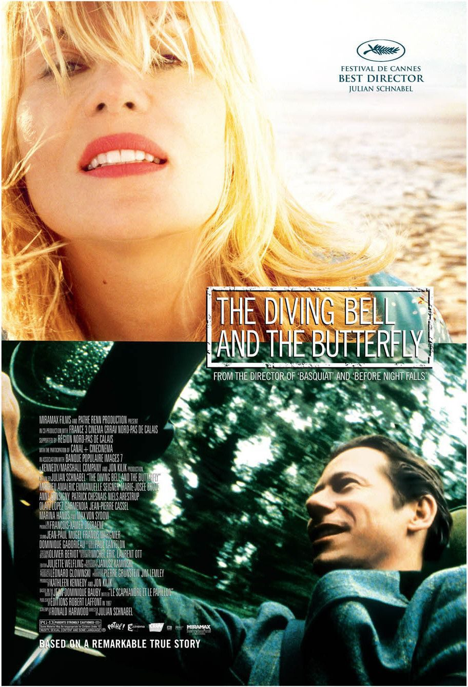 EEUU poster for The Diving Bell and the Butterfly