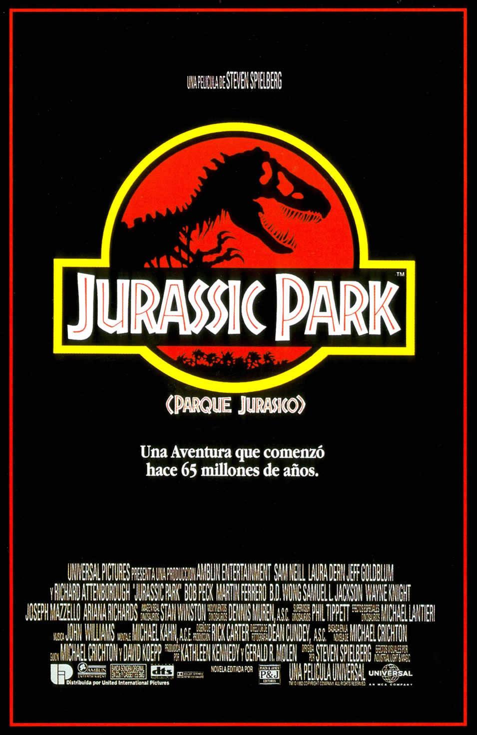España poster for Jurassic Park