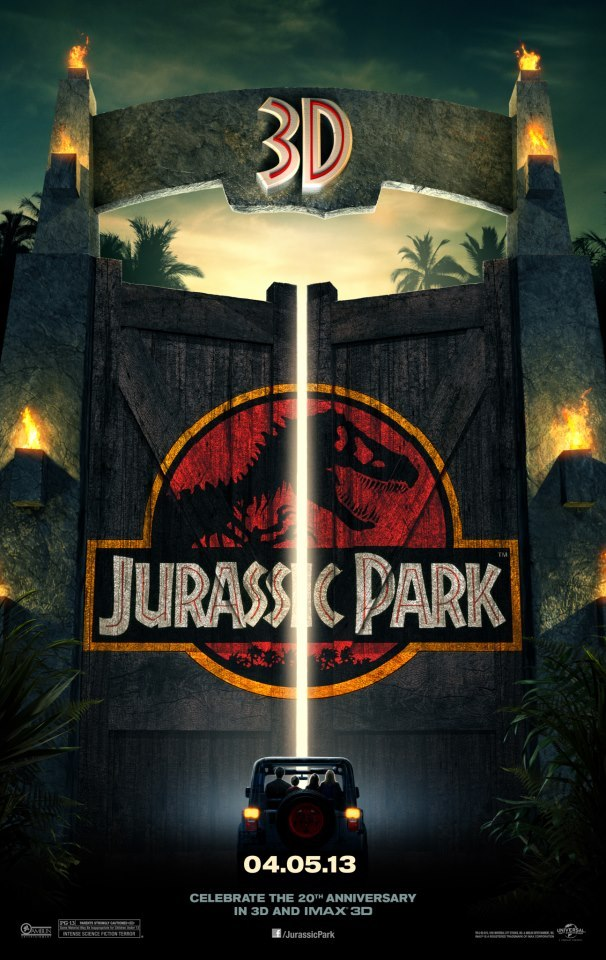 EEUU 3D poster for Jurassic Park