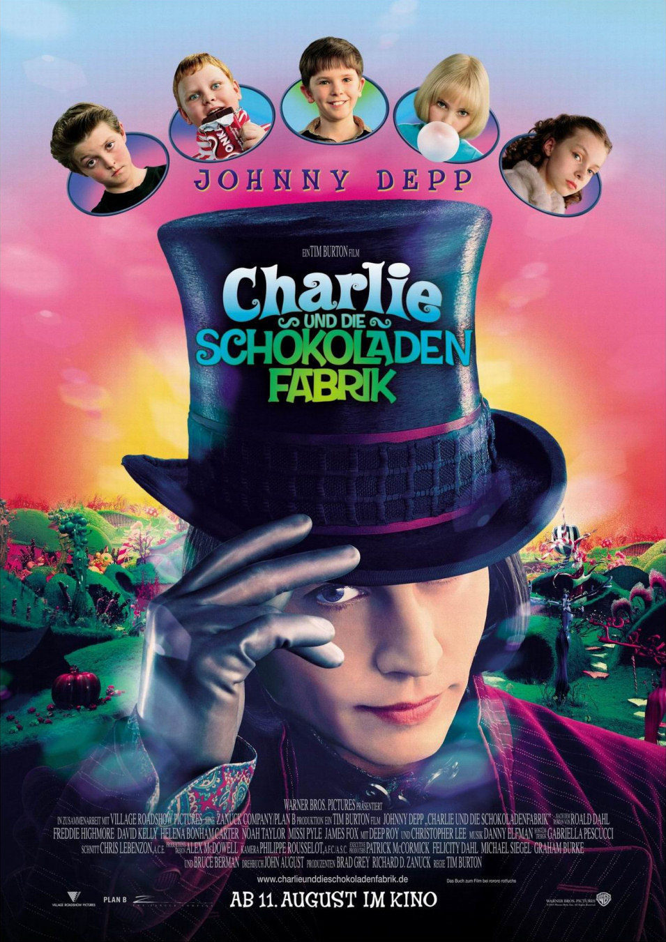 Alemania poster for Charlie and the chocolate factory