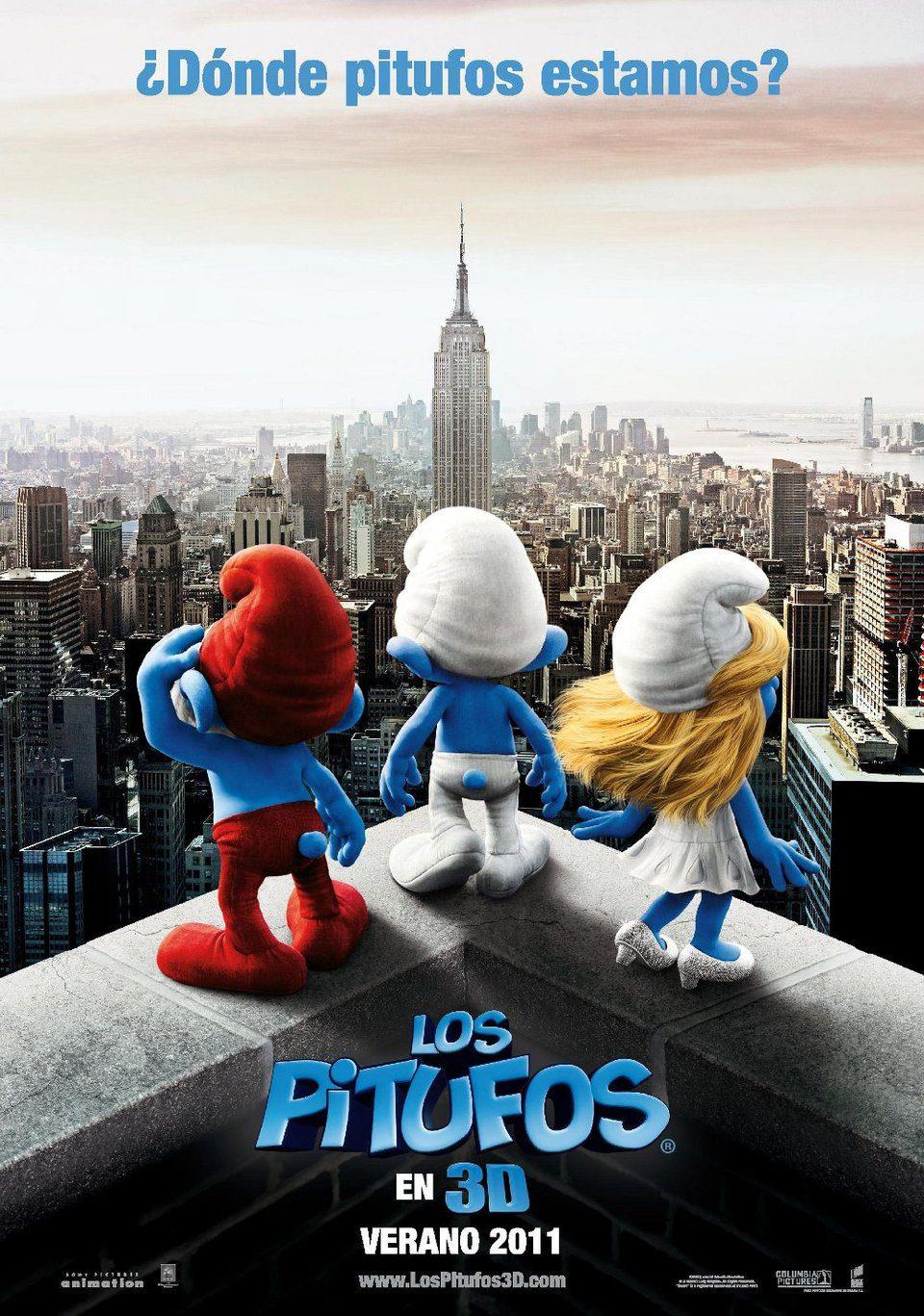Teaser España poster for The Smurfs