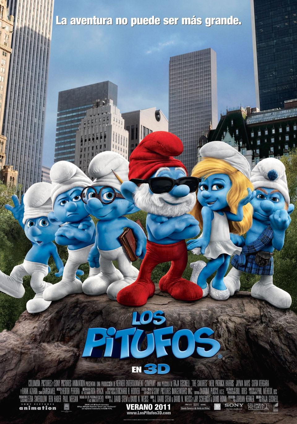 España poster for The Smurfs