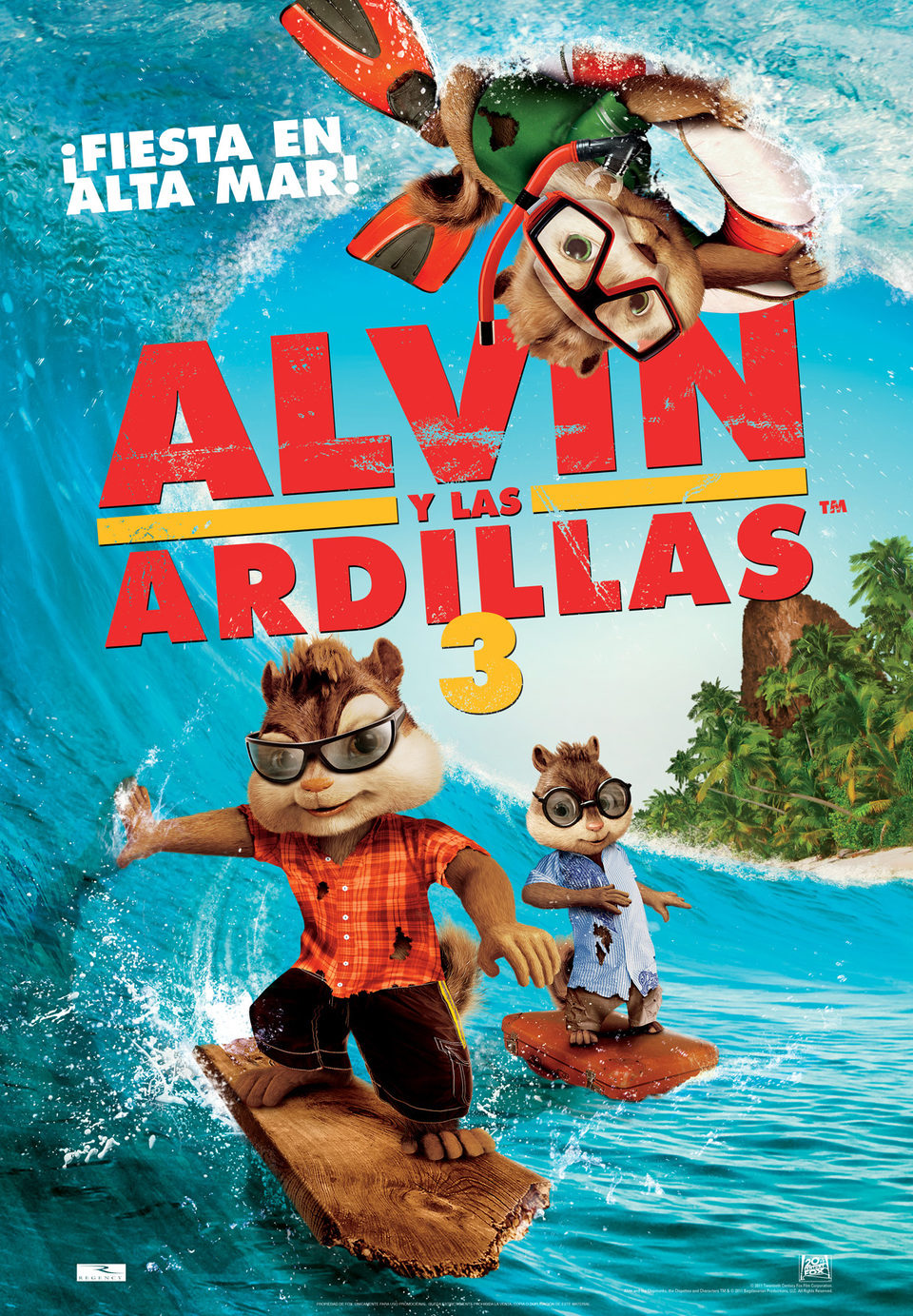 Alvin And The Chipmunks 3 Images españa poster for alvin and the chipmunks 3: chipwrecked