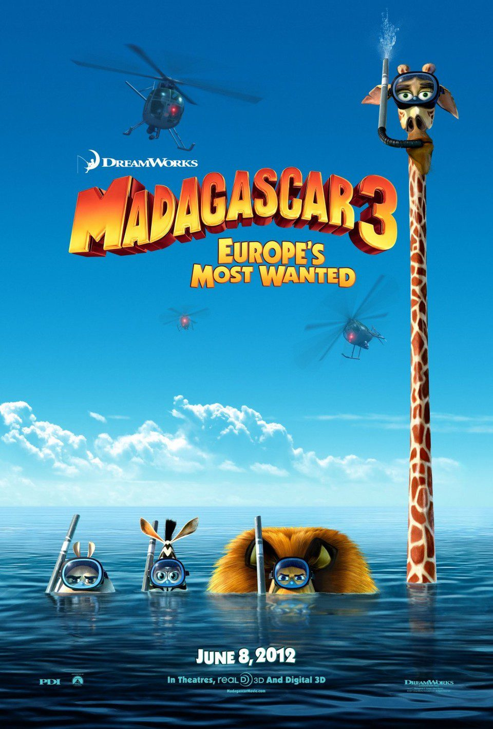 EEUU poster for Madagascar 3: Europe's Most Wanted