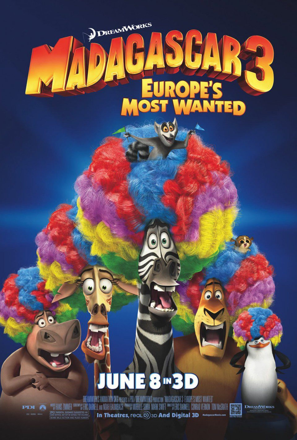 ee poster for Madagascar 3: Europe's Most Wanted