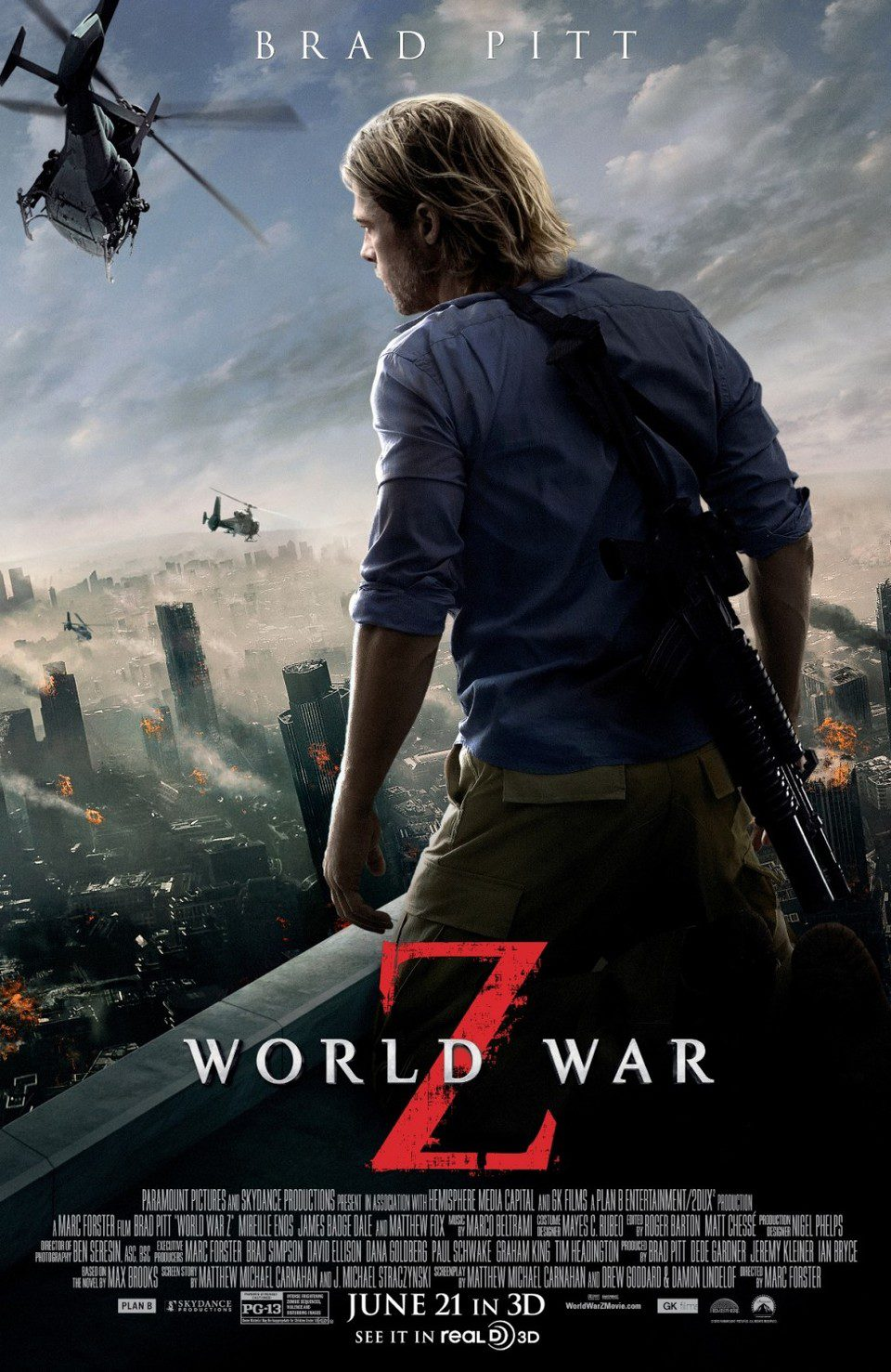 EEUU 2 poster for World War Z