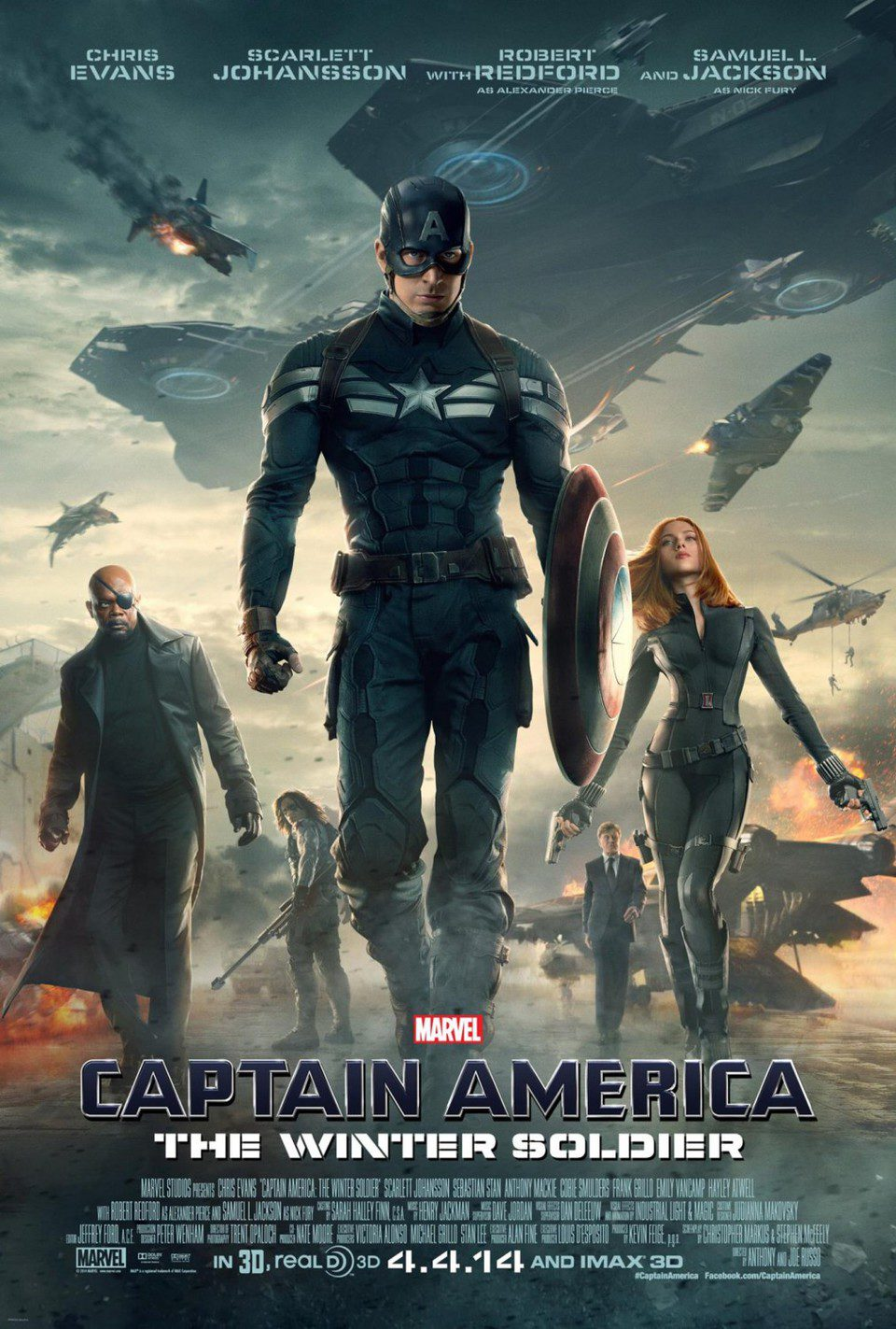 EEUU 2 poster for Captain America: The Winter Soldier