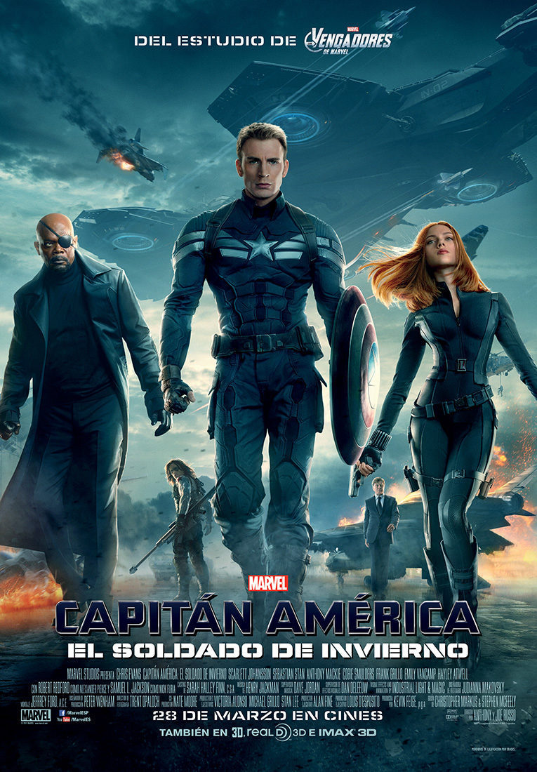 España poster for Captain America: The Winter Soldier