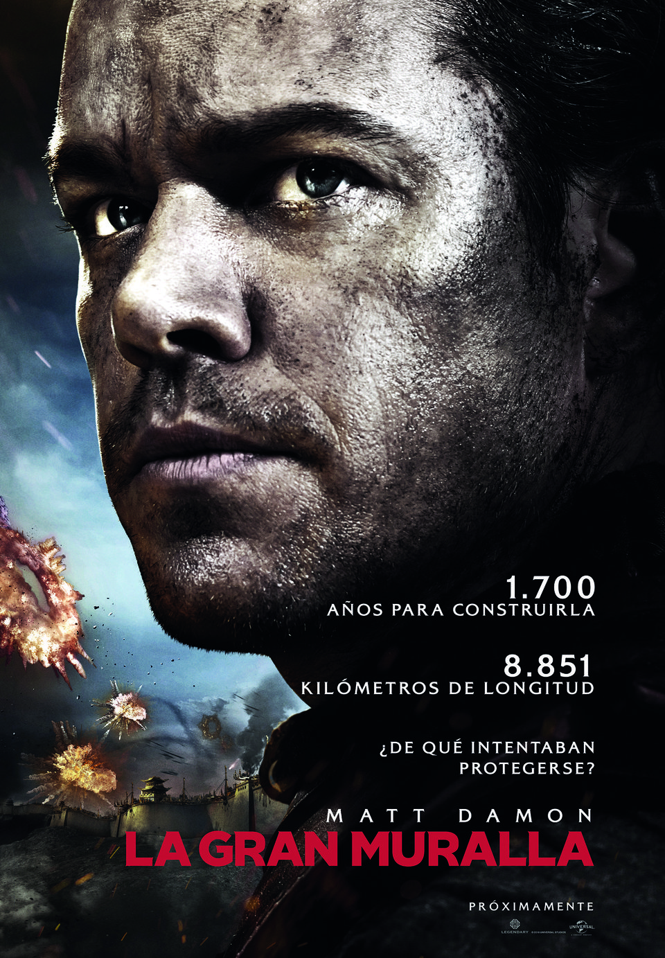 España poster for The Great Wall