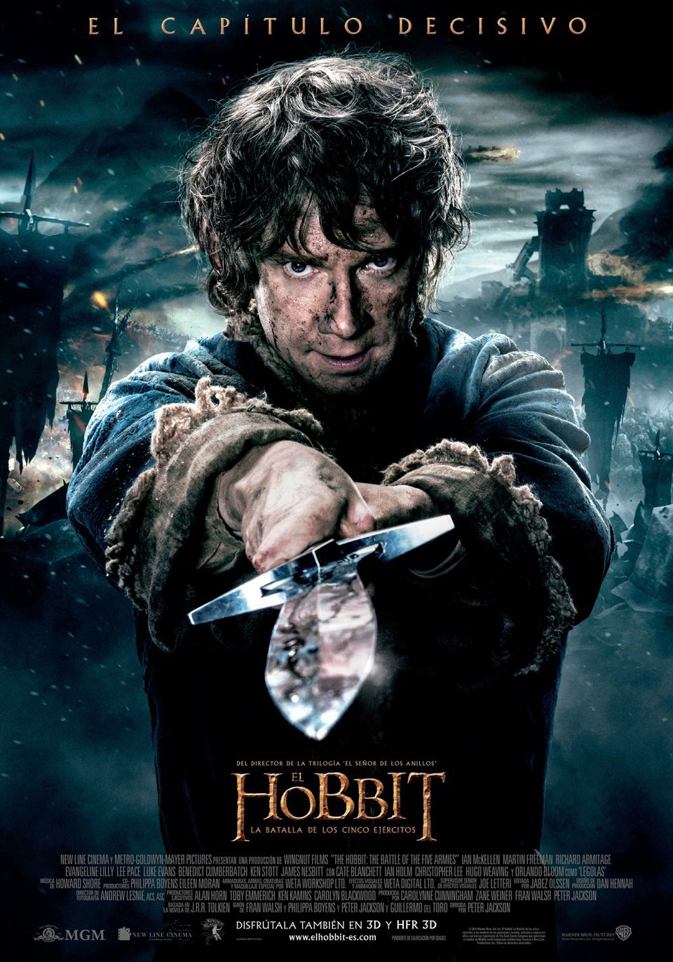 España poster for The Hobbit: The Battle of the Five Armies