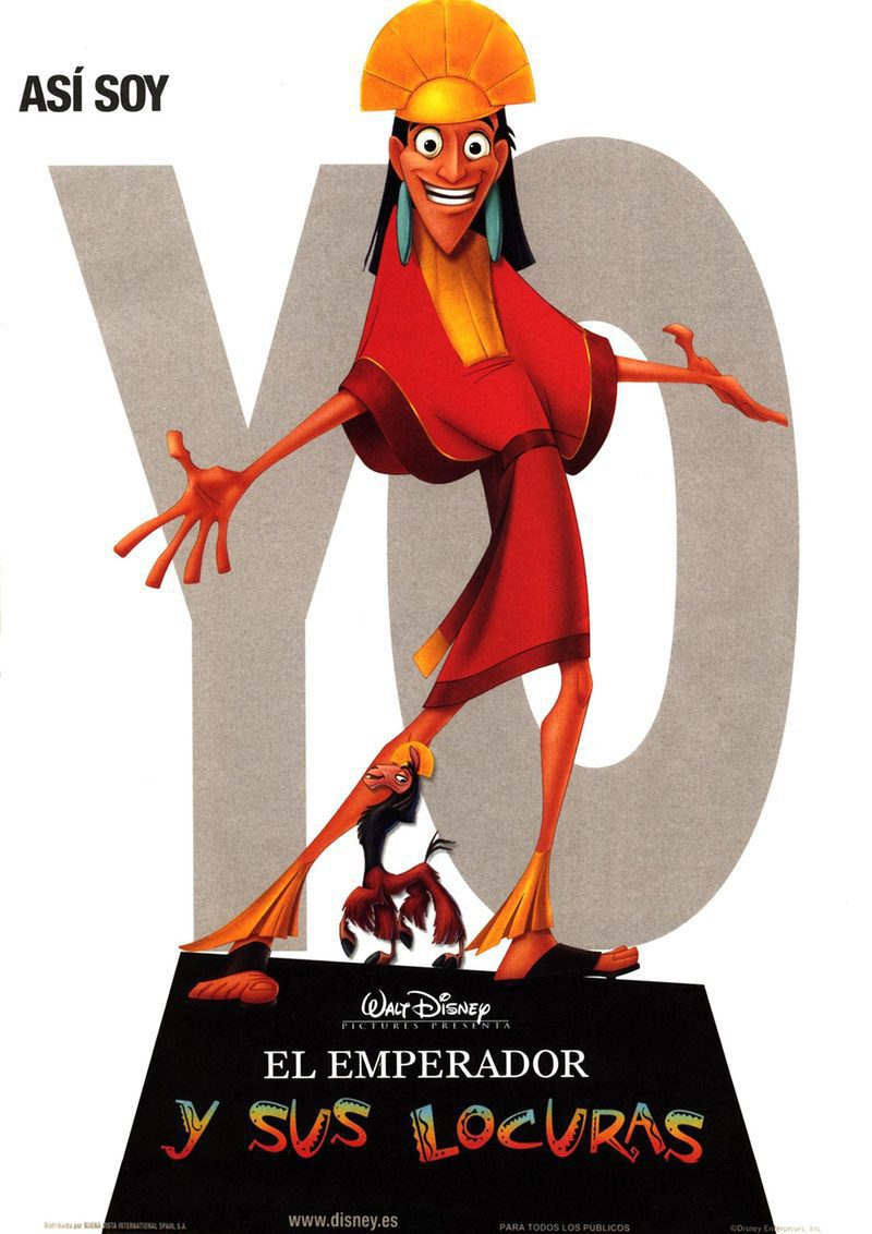 España poster for The Emperor's New Groove