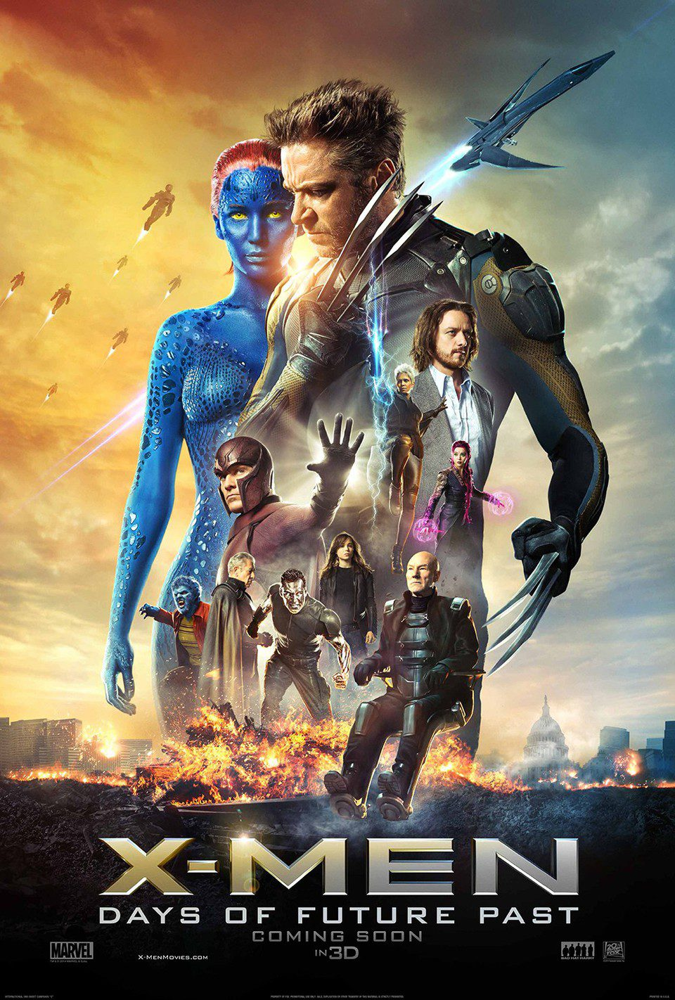 EEUU poster for X-Men: Days of Future Past