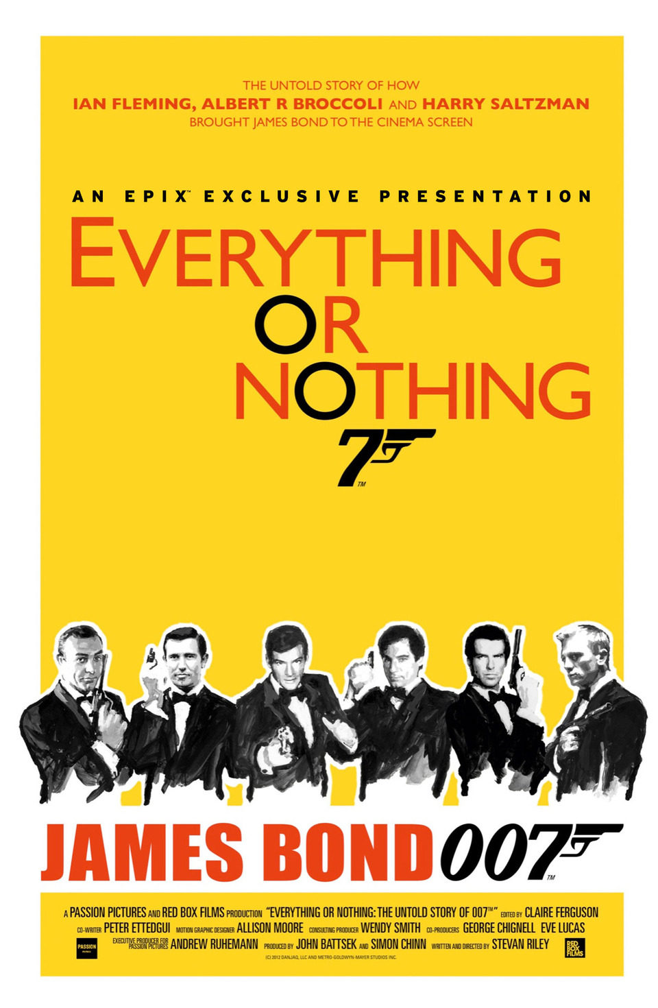 Reino Unido poster for Everything or Nothing: The Untold Story of 007