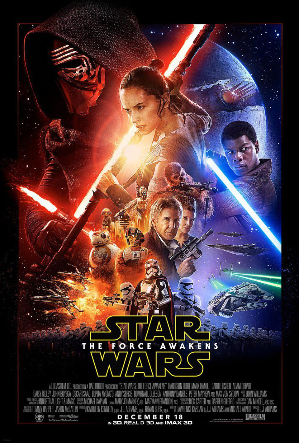 EEUU poster for Star Wars: Episode VII - The Force Awakens