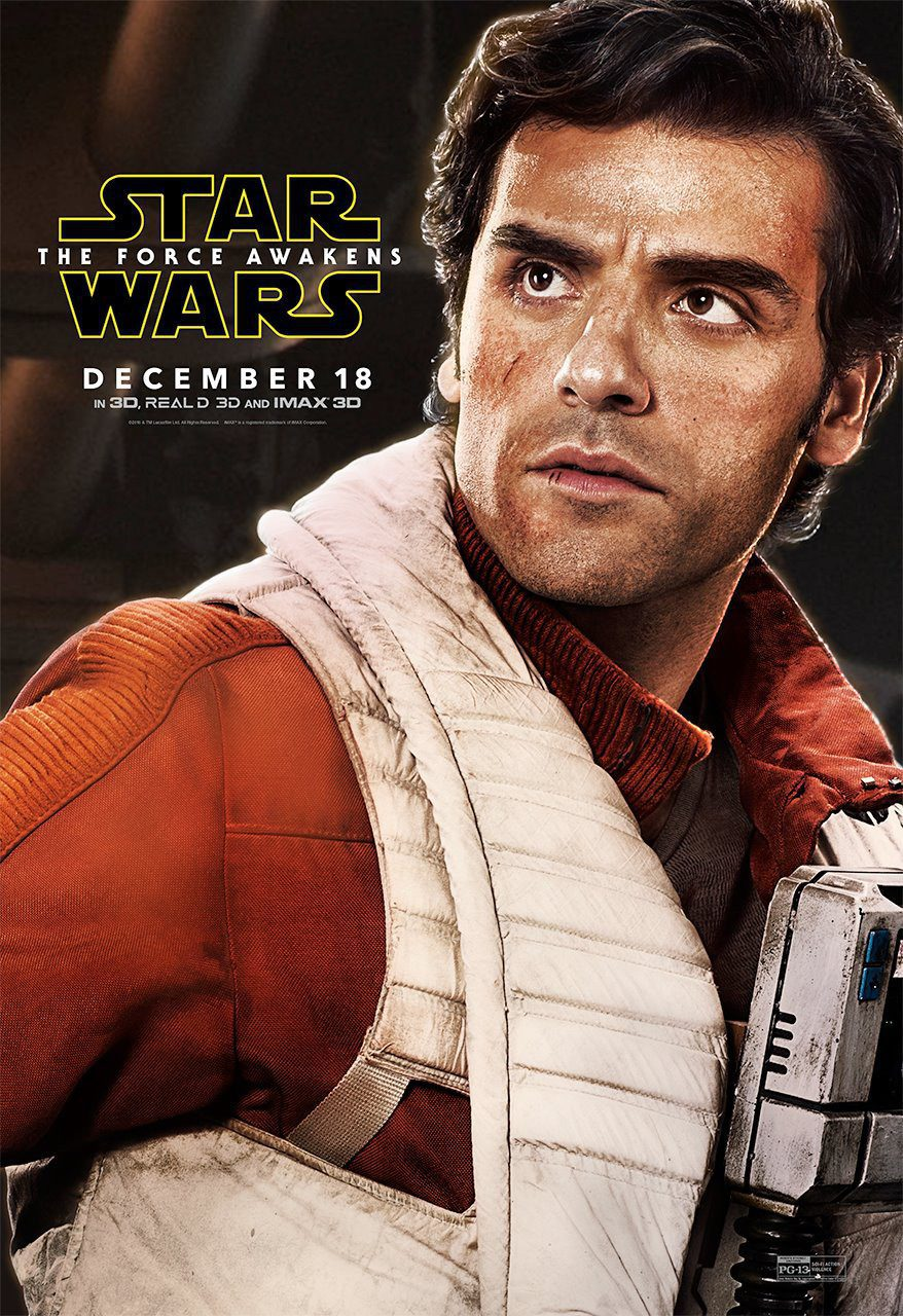Poe Dameron - Internacional poster for Star Wars: Episode VII - The Force Awakens
