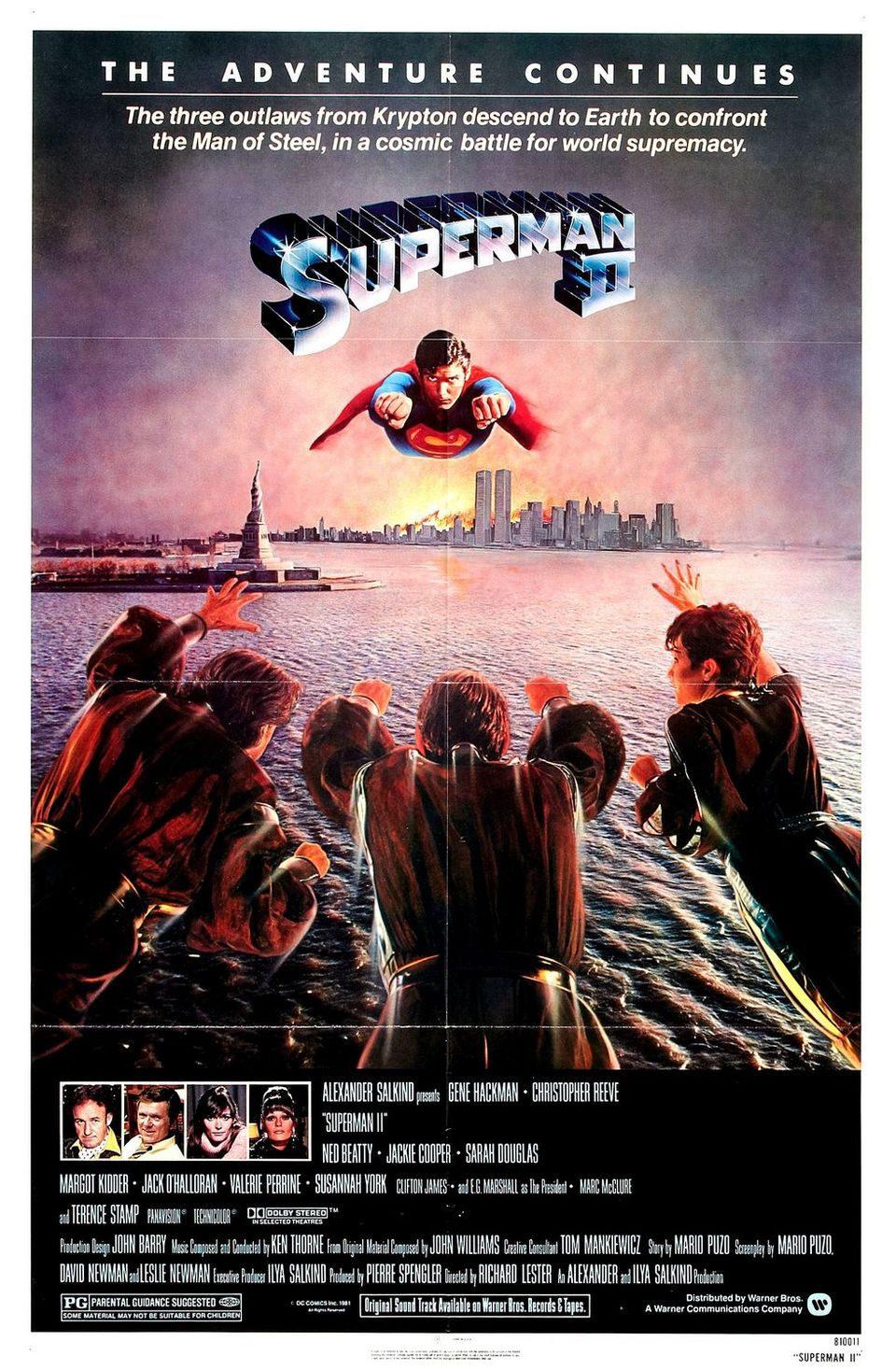 EEUU poster for Superman II