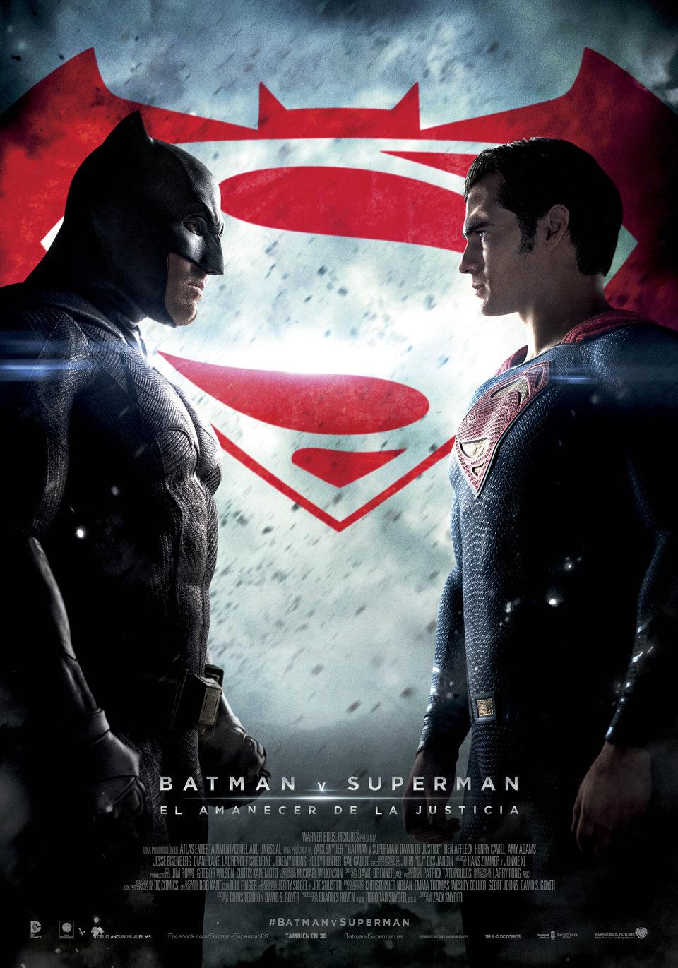 España Oficial poster for Batman v Superman: Dawn of Justice