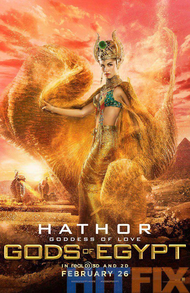 hathor UK poster for Gods of Egypt