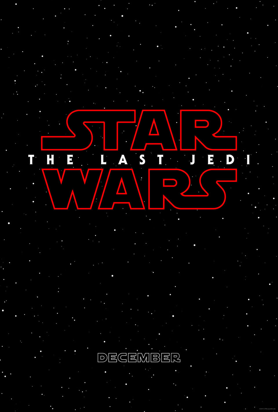 Teaser con título poster for Star Wars: The Last Jedi