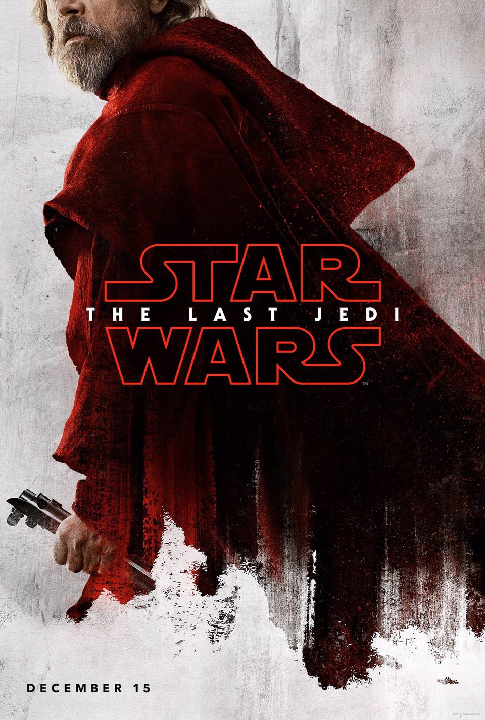 Luke Skywalker poster for Star Wars: The Last Jedi