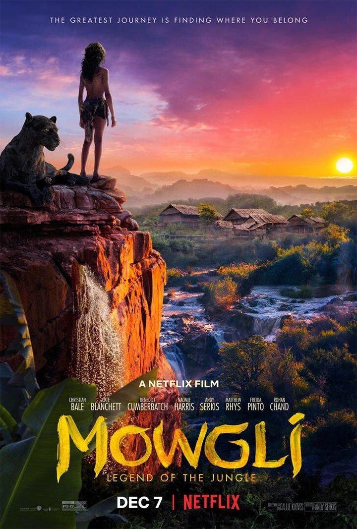 Póster final inglés poster for Mowgli: Legend of the Jungle