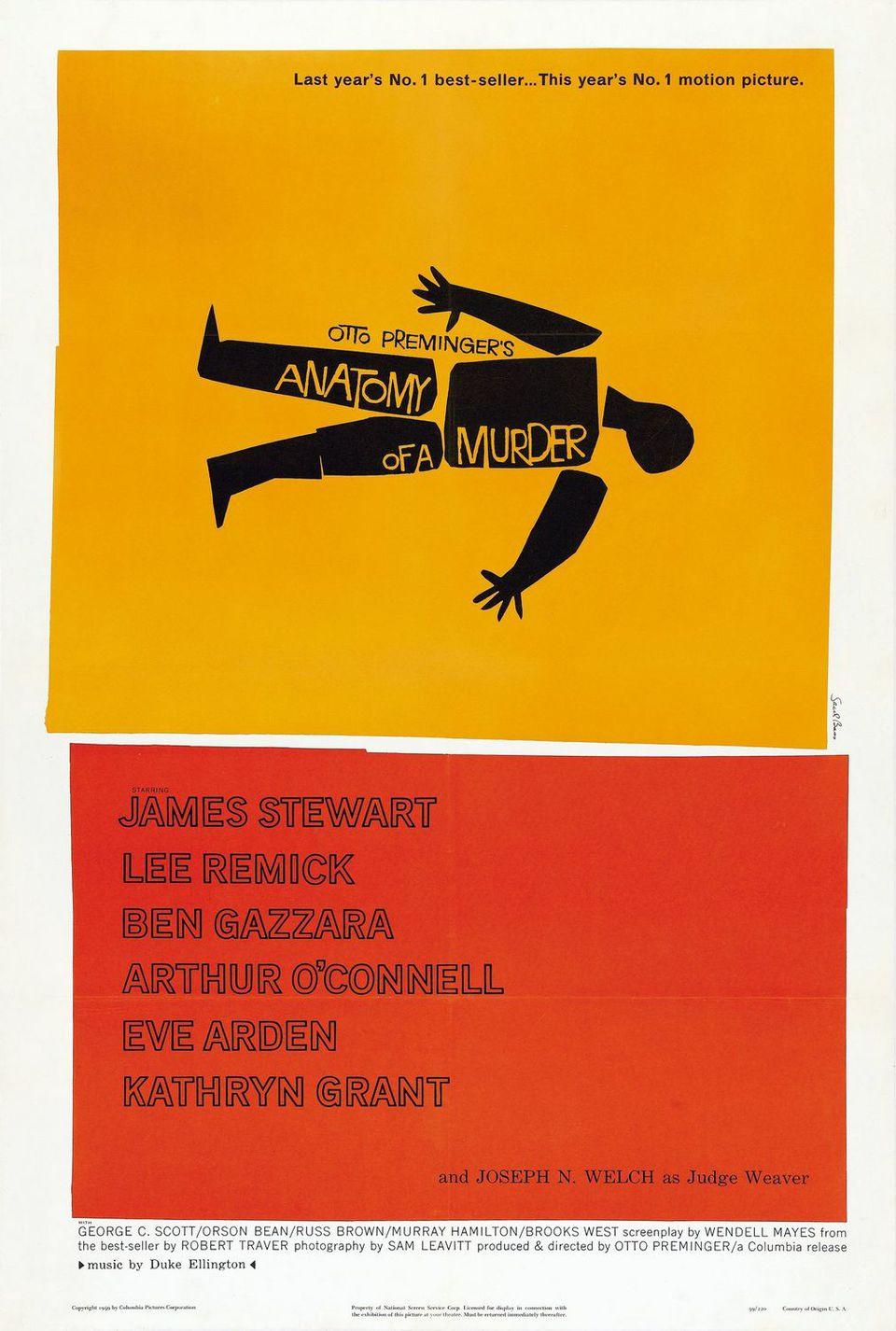 Estados Unidos poster for Anatomy of a Murder