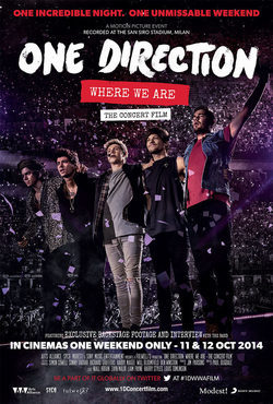 One Direction: Where We Are - The Concert Film poster