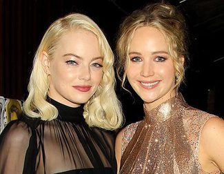 The uncomfortable embrace between Jennifer Lawrence and Emma Stone in Toronto